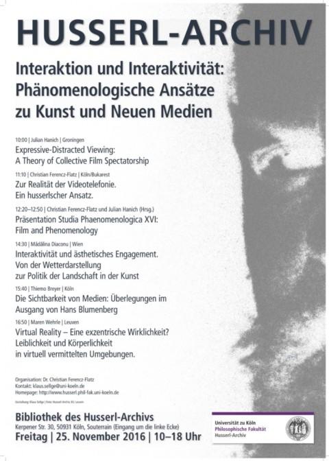 """Workshop """"Interaktion und Interaktivität: Phänomenologische Ansätze zu Kunst und Neuen Medien"""""""